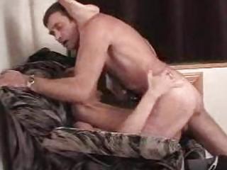 muscled gay hunk gangbangs slutty stud on armchair
