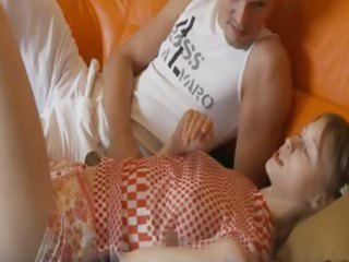 doll teenager sucking huge cock