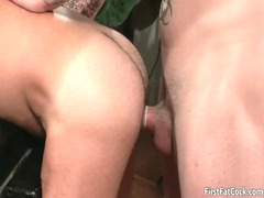 hot unmerciful gay piercing and licking gay sex