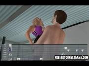 3d cartoon slut with her big tits hanguing out