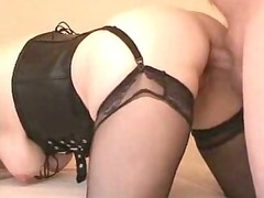 european older woman dildo and cock dp