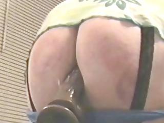 vibrator inside spanked butt