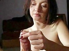 woman woman gives awesome handjobs