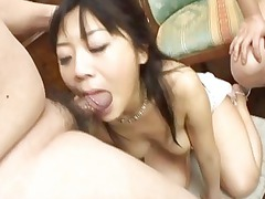 japanese lady gagged by two heavy bellied penises