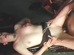 american whore into shoes takes drilled by her