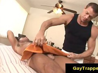 erotic gay massage with tanned gay male