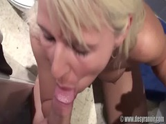 super blonde difficult cock sucking and