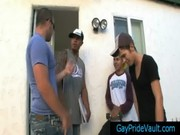 Cute latin guy gets rimmed and fucked gays