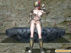 shemale 3d hentai with two by two boobs super