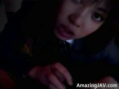 beautiful eastern schoolgirl sucking cock