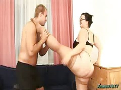 plump flexible babe gang-banged