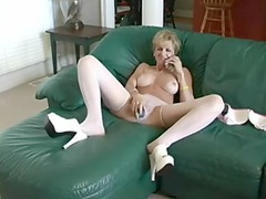 busty mother bonks dildo and stud