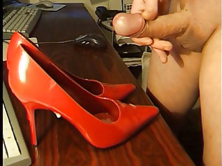 sperm on gf highheels part 7
