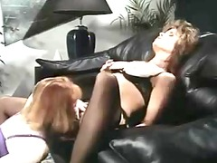 office lesbos inside retro movie scene
