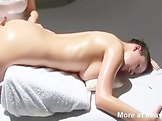 babe has multiple orgasm during massage