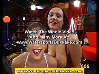 watersports worshiping girls drink piss