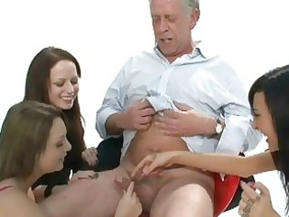 three slutty amateur jerk off old mans little
