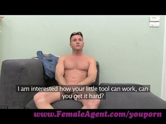 femaleagent. passionate and grown-up casting drill