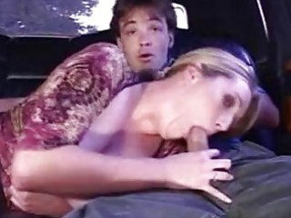 naughty pale car amp licks meaty cock into car
