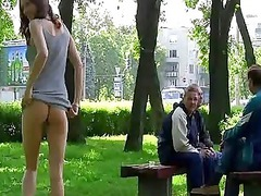 amateur chick getting nude her cunt on the streets