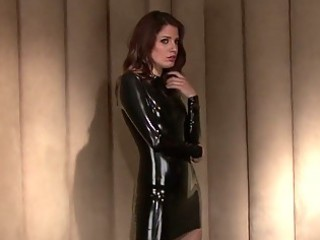 desperate girl in nice  latex uniform enjoying