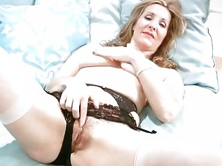 busty older  inside brief hand masturbation
