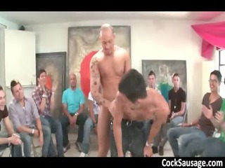 muscled stripper makes gay gang go wild gay sex