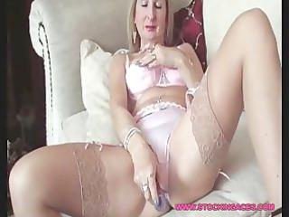 mature stocking slut cave play