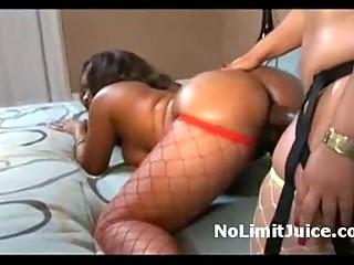 bulky slut pinky strapon copulates huge bottom