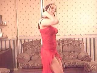 chick inside black is dancing