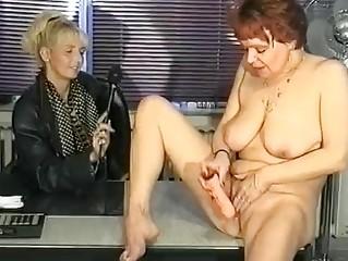german interviewer helps woman masturbate  clip