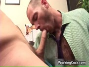 Cole streets fucked and sucked on office gay porn