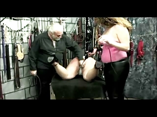 fatty restrained spanked and shocked