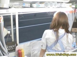 delightful inexperienced japanese food worker