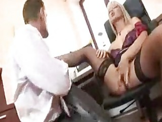 blond secretary gang-banging her boss