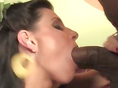 india summer taking a large black penis