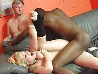 dark stud with large dick slamming cuckold