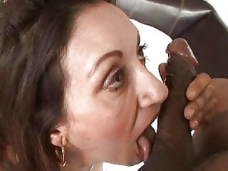 ebony chocolate hunk gets cock sucking from