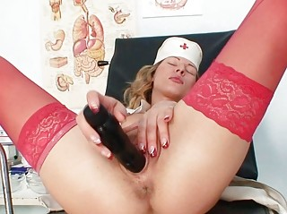 sweet anal albino doctor inside black nylons